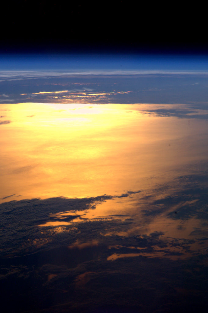 unknownskywalker:  Golden planet ESA astronaut André Kuipers has been sending many stunning images of our planet from his vantage point on the International Space Station.