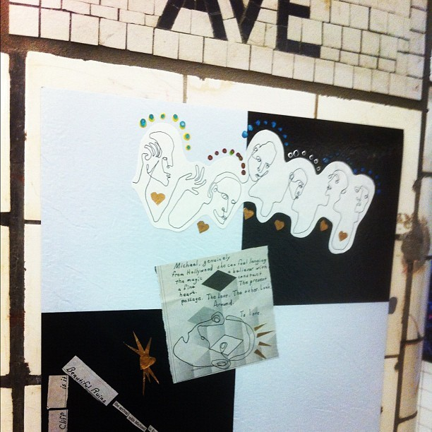 Awesome art in the subway #nyc (Taken with Instagram)