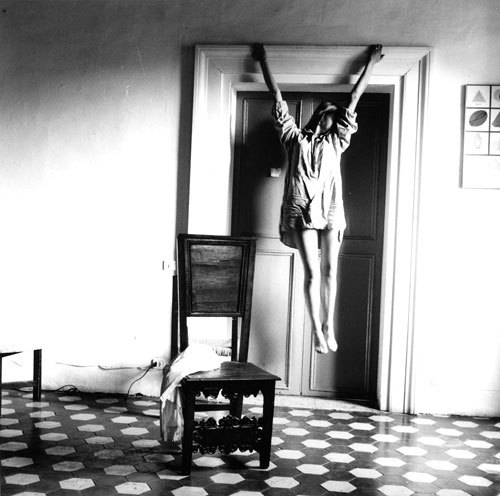 minusmanhattan:  Untitled, 1977 by Francesca Woodman. Check out the documentary The Woodmans about Francesca and her family, it's available on Netflix now.
