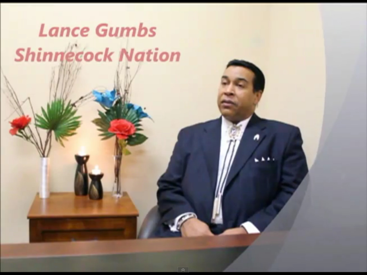 Lance Gumbs (Shinnecock)- Indigenous member of The National Committee on American Indians.