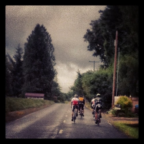 Raindrops alone can't keep these stout-hearted riders down! (Taken with Instagram)