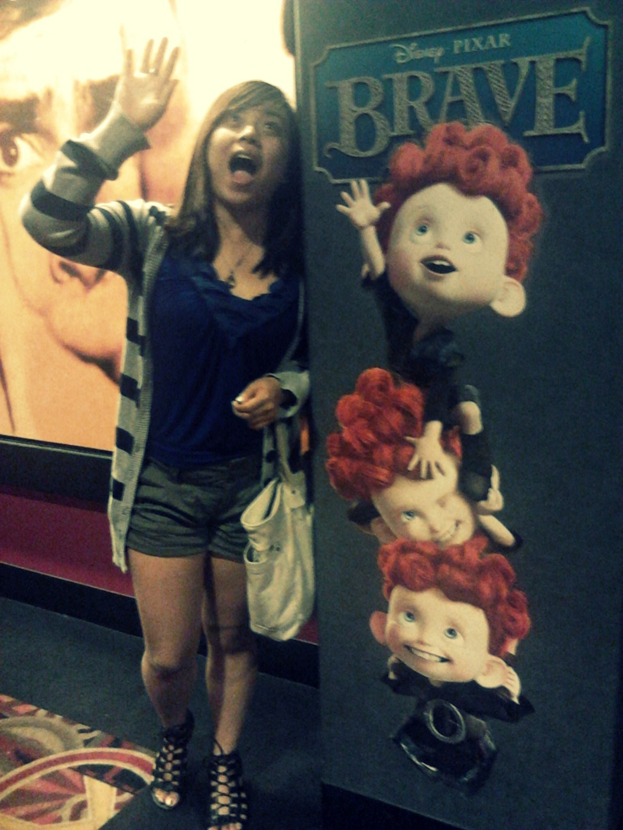 first movie watched in theaters as a family—Brave :D what a good choice. here's me being a derp LOL