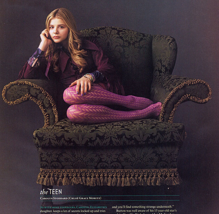 Chloe Moretz photographed by Mary Ellen Mark for Dark Shadows
