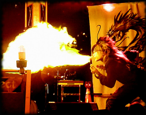 YuI and the dragon Blowing fire Vagu*Project in Osaka June 22, 2012 This was the best live ever with Vagu*Project! Why because they were totally wild and so HAPPY. YuI was just amazing to see on stage totally passionate about their performance and they just nailed it! Wonderful to see and so HAPPY I went down there to see them! Aresz was also great, and well I have said it before, the sound and mixing can break or make a live performance, and last time I saw both Vagu*Project and Aresz at Meguro Live station was a not good, but here the sound (except for a few mishaps with electricity) it was just perfect and Aresz were fantastic to see. A zillion better than at Live Station in Tokyo. Maybe part of it because Osaka is their home grounds? Either way it was a WOW night. Sorry but there is no way I can blog anymore from this event until I am in Europe. Packing down my computer, but this was another memory I wanted to keep on TOP until I'm back here again.