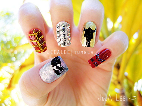 jeealee:  Michael Jackson Nails