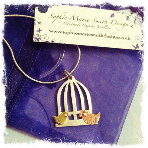 Vintage birdcage pendant - Packing up this little beauty to send out today :) #photooftheday #iphone #instagram #jewellery #craft #smsdesign #buyhandmade  (Taken with Instagram)