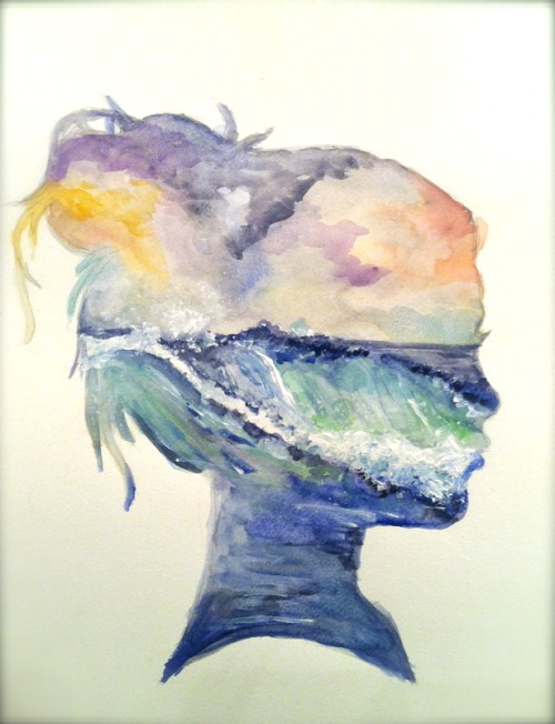 theartof-destruction:  painted this today. watercolor 6/24/12  So lovely.
