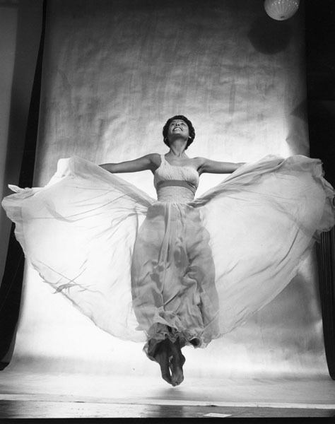 theniftyfifties:  Lena Horne by Philippe Halsman, 1954.