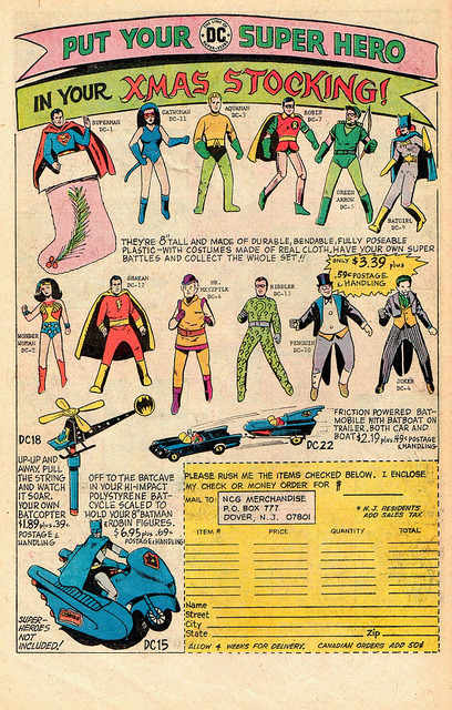 cryptofwrestling:  Super Hero toy ad  (1976)