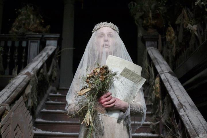 costumefilms:  Great Expectations - Gillian Anderson as Miss Havisham, wearing her tattered wedding dress.