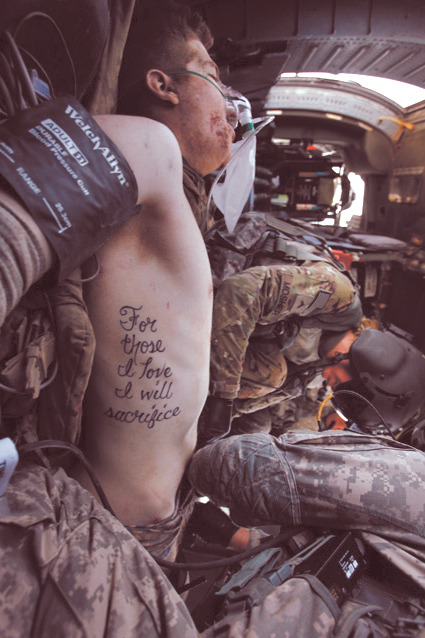 """For those I love I will sacrifice"""