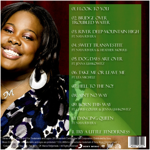 Amber Riley: The Album Vol. 2 Back Cover