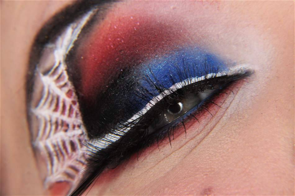 The Amazing Spider-Man Eye Makeup Design  The new Spiderman movie is coming soon, are you excited already?   (by Makeup Your Jangsara)