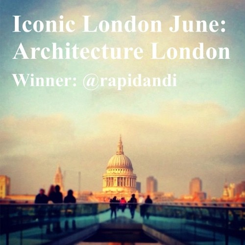 The wait is over. And the verdict is finally in. The winner of our Iconic London June Architecture Challenge is @rapidandi with his sublime image of two of London's truly iconic pieces of architecture, one old and one new, St Paul's Cathedral and the Millennium Bridge. Some detailed editing reveals the clarity of St Paul's against a blurred backdrop of the financial centre, as if a beacon shining through time and through politics - especially resonant given the recent events around the Cathedral. All set against a beautiful pinky blue sky. But what we also liked about this image is that it also included another important element in London's life: people. So huge congratulations to And(i)y! And a big well-done also to all the finalists and indeed to everyone who tagged. It was such a difficult task picking the finalists given the really high standard of entries. And thanks again to @firebox for their kind prize donation which Andy will be enjoying very soon! Thanks to @rugfoot who did a wonderful job with this contest! (Taken with Instagram)