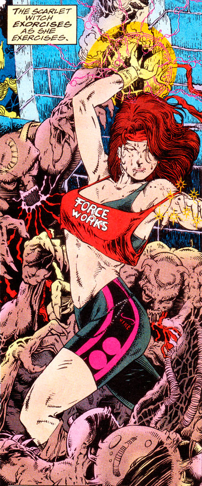 pa-tang:  The Scarlet Witch exorcises as she exercises