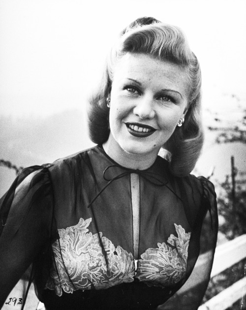 vintagesonia:  Ginger Rogers, 1946. Photographed by Bob Landry