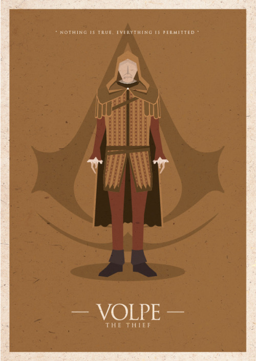 zharifsafian:  Assassin's Creed Minimal Poster Click here for more poster : http://be.net/zharifsafian
