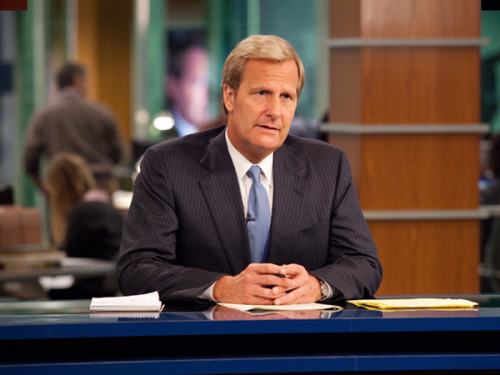 Each episode of The Newsroom might as well conclude with Aaron Sorkin finishing his script on a typewriter and taking a proud puff of a cigar. (Joshing aside, I enjoyed the pilot a lot, flawed and all as it was. Sue me.)