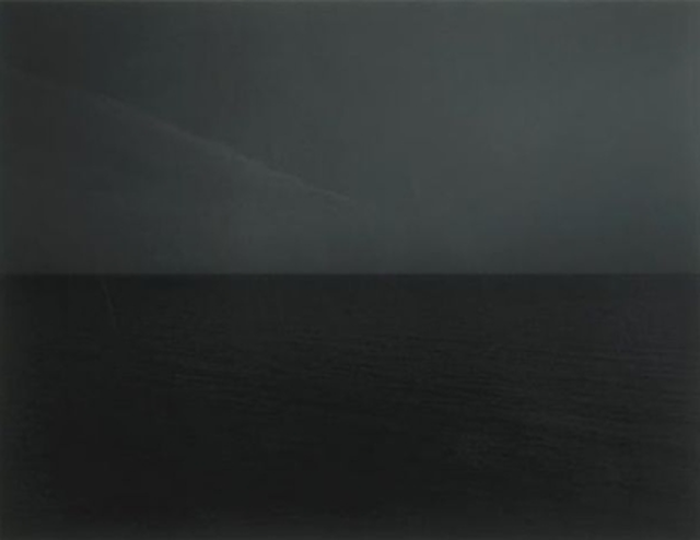 Sugimoto's Irish Sea Japanese artist Hiroshi Sugimoto investigates the notion of timelessness by recording the seascape, a surface that remains the least changed thus revealing a time that exists beyond our own.  Check out his collaboration with Hermès.