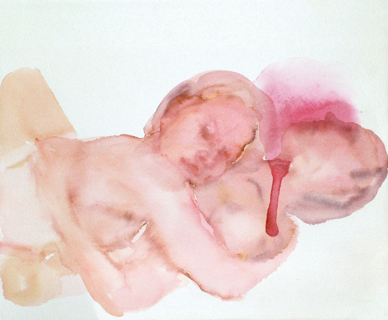 5piecesgallery.com Federico Lombardo - Coppia 15, Watercolor on arches paper, 34 x 28 cm