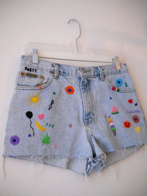 """Dear Diary"" embroidered shorts on Etsy"