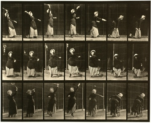 Huzzah for Wimbledon! 3rdofmay:  The art: Eadweard Muybridge, Lawn Tennis, Animal Locomotion No, 298, 1884-86. The news: Wimbledon starts today! The source: Collection of the Museum of Modern Art, New York; the Boston Public Library; numerous others.