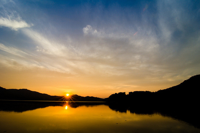 Sunset over Gwangju Lake on Flickr.