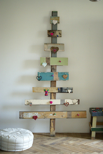 Eco-friendly and original Christmas tree.