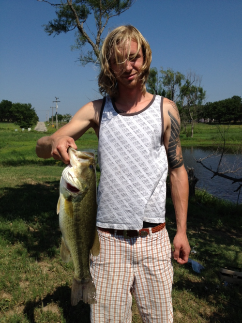 I caught a delicious bass.