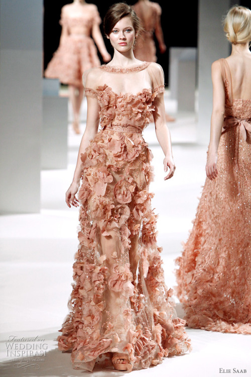 desirechange:  Elie Saab Spring/Summer 2011 Couture Art Nouveau Wedding Inspiration