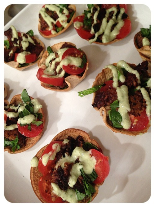 (Click here for recipe TLT Cups (tempeh, lettuce, & tomato))