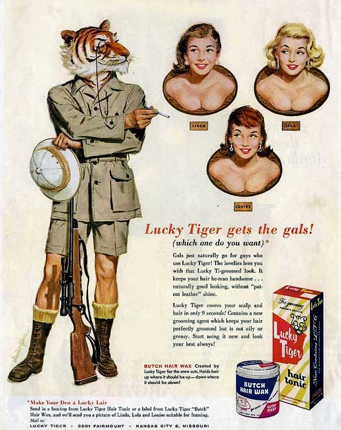 "(via ""Lucky Tiger Gets the Gals"", c.1955 