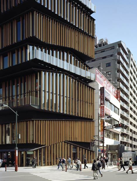 cjwho:  Asakusa Culture Tourist Information Centre designed by Kengo Kuma and Associates.