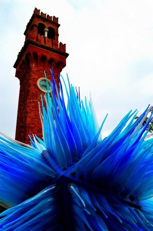 The Isle of Murano, Italy, and its famous glass sculptures.