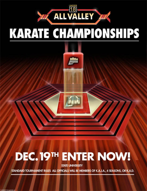 Things you want: A perfect replica of the All-Valley Karate Championships poster from Karate Kid By Dave Delisle. Limited edition prints available here ($15.99).