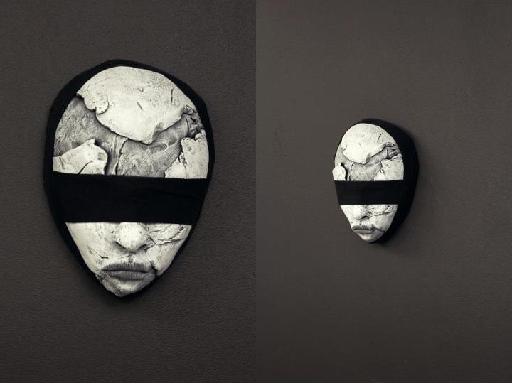 "torvenius:   *SUMMER SALE*mask - ""Blindfolded plain"" mixed media - 700 SEK/77 EUR send email if interested."