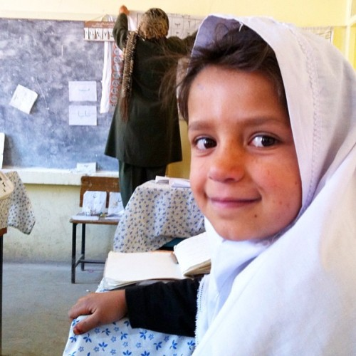 Met the cutest third grade class in Kabul. (Taken with Instagram)