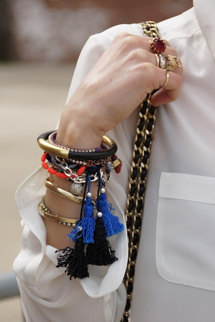 lulufrost:  BAUBLE OF THE DAY tassel time - the red white & blue edition
