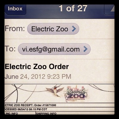 Just got the tickets for another festival! Looking forward for EZ2012 :) (Taken with Instagram)