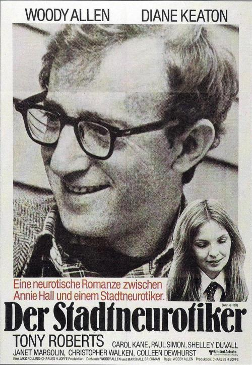 lettertojane:  Annie Hall I went to see a new 35mm print of Annie Hall at Film Forum this weekend and it was great. Most of the theater had never seen the film before so the whole experience was a riot. I also never realized just how great this film looks because it's been so poorly transfered to home video. Really if you're in New York and you're even just slightly a Woody Allen fan you should go see this before the run ends this week.
