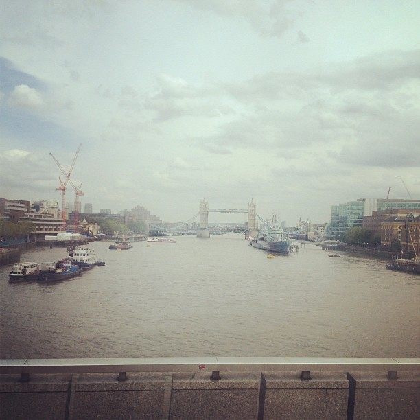 Tower Bridge, London. From the bus. (Taken with Instagram at London Bridge)