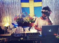 The Swede Beat DJ set at Midsummer at The Yard at Soho Grand