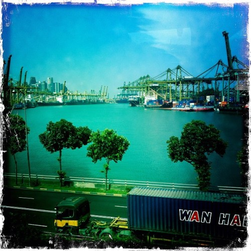 The Port of Singapore (Taken with Instagram at Monorel To HFRONT)