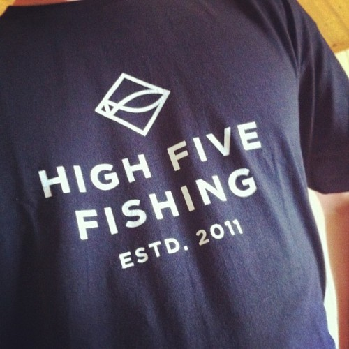 Finally got the t-shirts for my blog High Five Fishing! Logo is made by the very talented Martin Asbjørnsen. Check out his website martinmartin.no