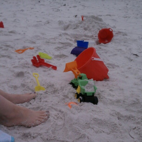 E & E abandoned toys for the waves #beach #Family  #Fun  (Taken with Instagram at The beach at Sandestin)