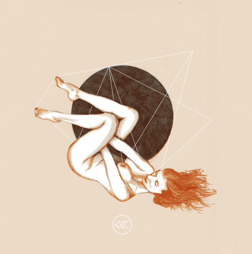 oilandsugar:  circle illustration by oil and sugar on Society6. oilandsugar.com