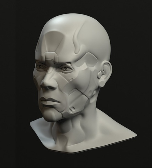 3 D animation head by Stefan Heinrich