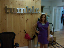"Brittany McMillan visited NYC this past week! Here she is visiting the Tumblr offices in Manhattan. Please give her support by helping her win Seventeen Magazine's ""Pretty Great"" contest for a chance at a big scholarship! Please head over to glaad.org/Brittany and glaad.org/votebrittany to give her your vote!"