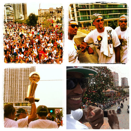 Scenes from this morning's Miami Heat championship parade.