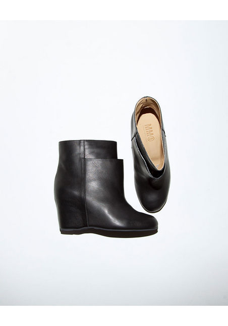 COVETING! MM6 by Maison Martin Margiela Layer Wedge Bootie (via La Garconne)